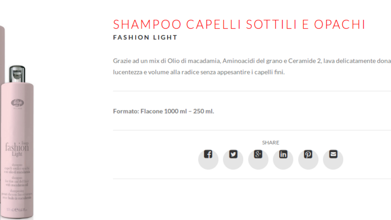 Lisap Fashion Light Shampoo