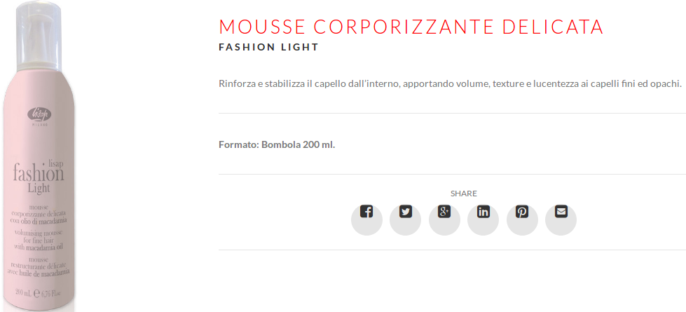Lisap Fashion Light Mousse corporizzante