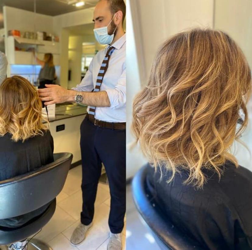 On the hair
